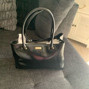 KATE SPADE Structured Black Patent Leather Tote
